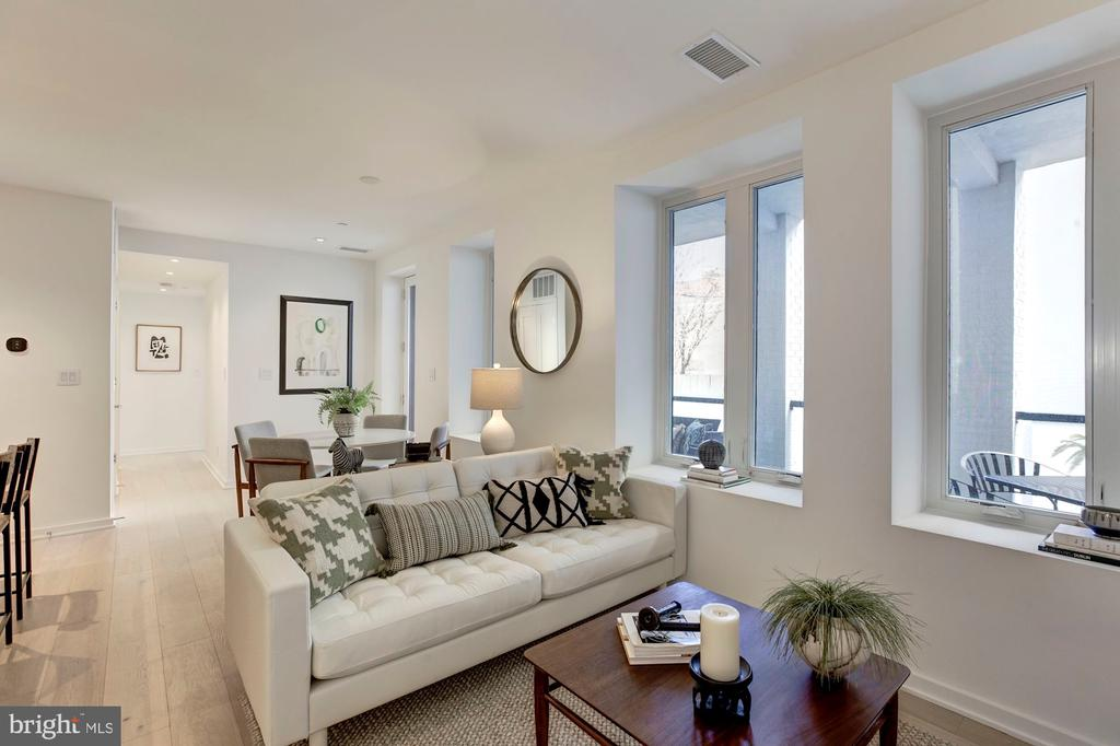Natural light in the open floor plan - 1101 Q ST NW #202, WASHINGTON