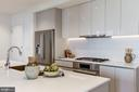 Gourmet kitchen, vented hood, gas cooking - 1101 Q ST NW #202, WASHINGTON