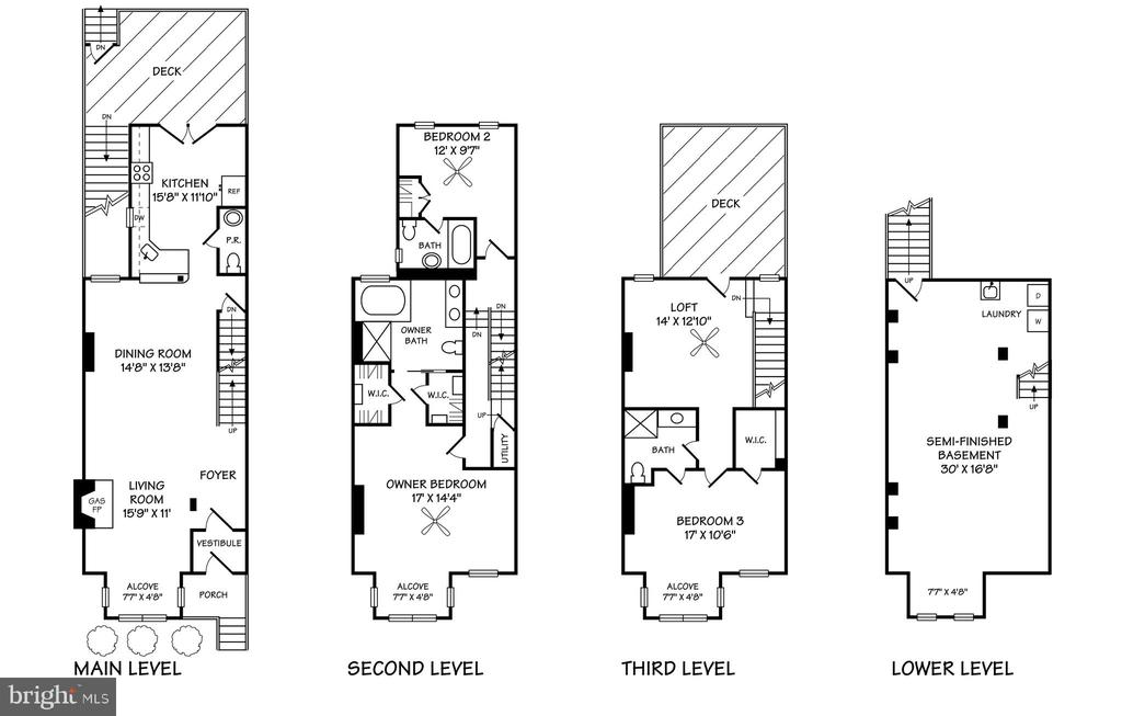 Floor Plan - 950 WESTMINSTER ST NW, WASHINGTON