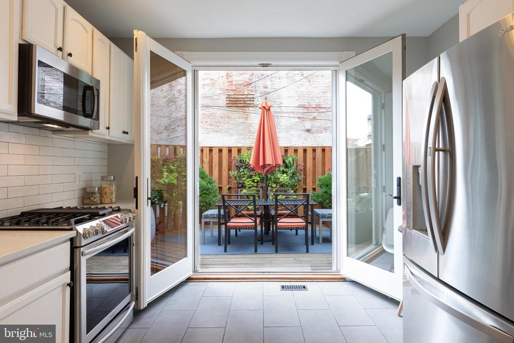 Double Doors lead to Patio - 950 WESTMINSTER ST NW, WASHINGTON