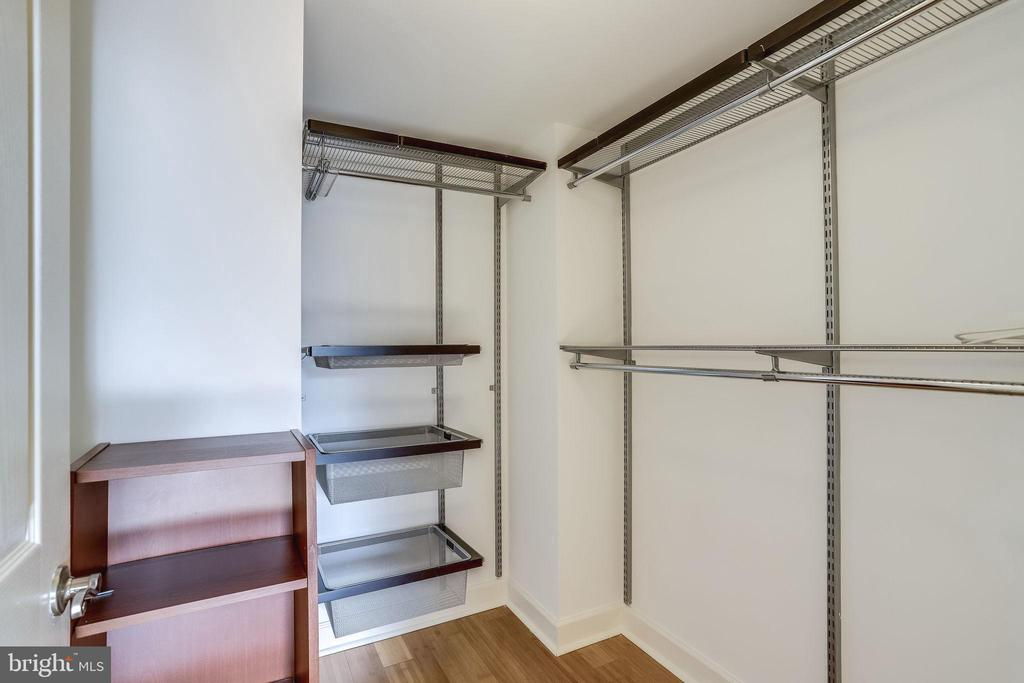 Closet organizers to make the most of the space - 1201 N GARFIELD ST #803, ARLINGTON