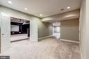 Recessed lighting and brand new carpet in LL - 19999 BELMONT STATION DR, ASHBURN