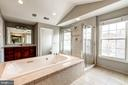 Master bath w/ soaking  jetted tub - 19999 BELMONT STATION DR, ASHBURN