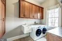 Main level laundry with brand new washer and dryer - 19999 BELMONT STATION DR, ASHBURN