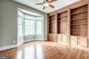 Main level library with built in and french doors - 19999 BELMONT STATION DR, ASHBURN
