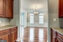 Butlers pantry off DR  perfect for entertaining - 19999 BELMONT STATION DR, ASHBURN