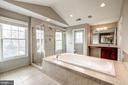 Master bath with dual entry doors & vanities - 19999 BELMONT STATION DR, ASHBURN