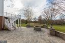 Paver patio with fire pit great for entertaining - 19999 BELMONT STATION DR, ASHBURN