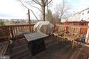 Deck off of family room with beautiful views - 505 BRECKINRIDGE SQ SE, LEESBURG