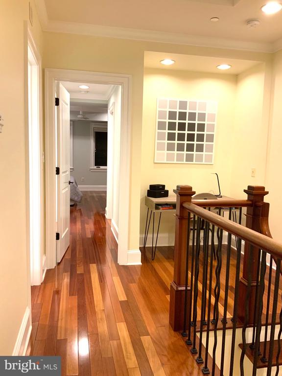 Hallway to Master Suites & Laundry Room - 1324 FAIRMONT ST NW #B, WASHINGTON