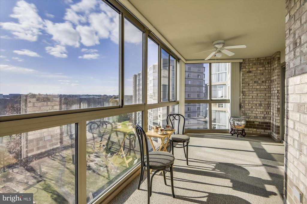 Amazing panoramic views from the Sun Room. - 19385 CYPRESS RIDGE TER #920, LEESBURG