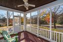 Enclosed Porch off of the Living Room - 4858 ALBEMARLE ST NW, WASHINGTON