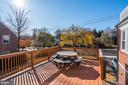 Deck off the Family Room on the Main Level - 4858 ALBEMARLE ST NW, WASHINGTON