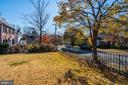 View of Backyard from 49th Street - 4858 ALBEMARLE ST NW, WASHINGTON