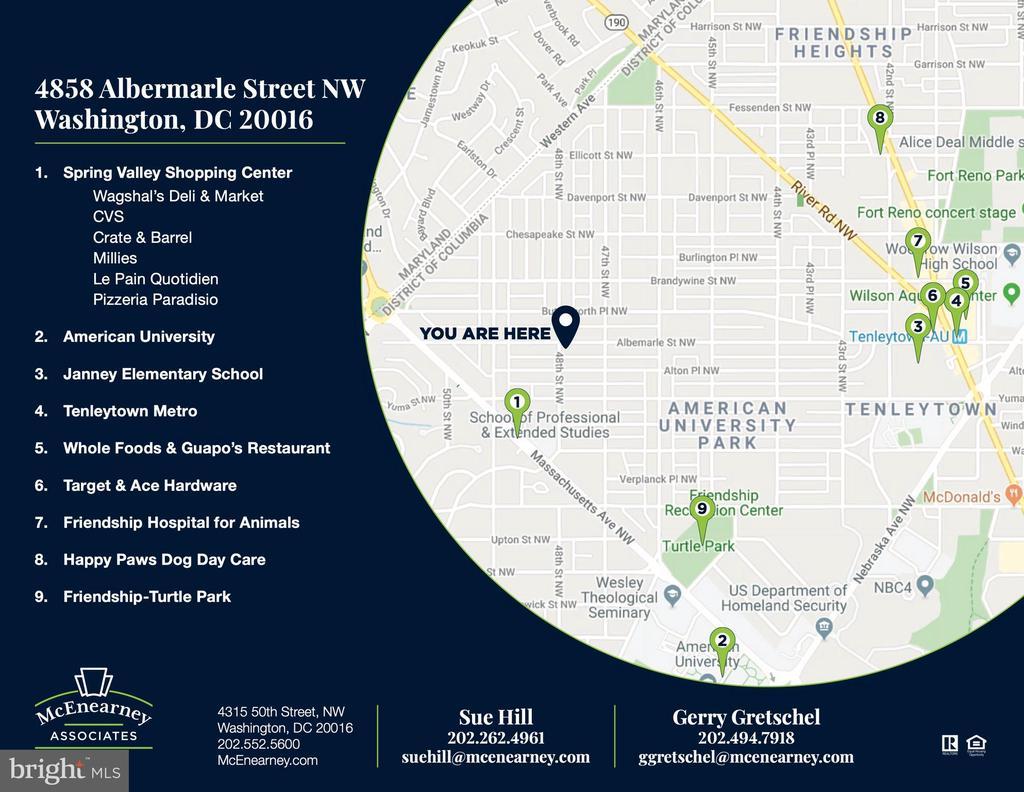 Neighborhood Map - 4858 ALBEMARLE ST NW, WASHINGTON