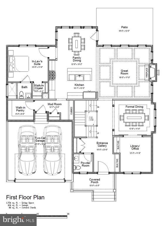 Main level. Ensuite bedroom, separate office. - 5821 25TH RD N, ARLINGTON
