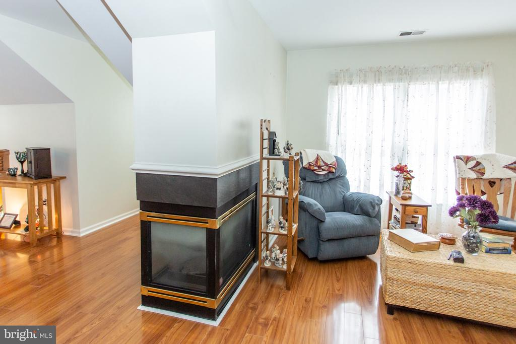 Three sided gas fireplace - 20687 BROADWATER CT, STERLING