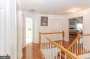 Upper hall with wood flooring - 20687 BROADWATER CT, STERLING