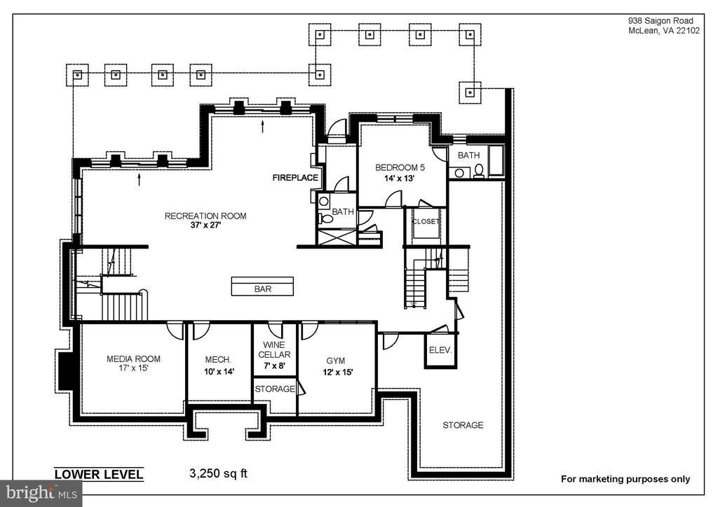 Lower Level- 10'Ceilings, 2 Full Baths - 938 SAIGON RD, MCLEAN