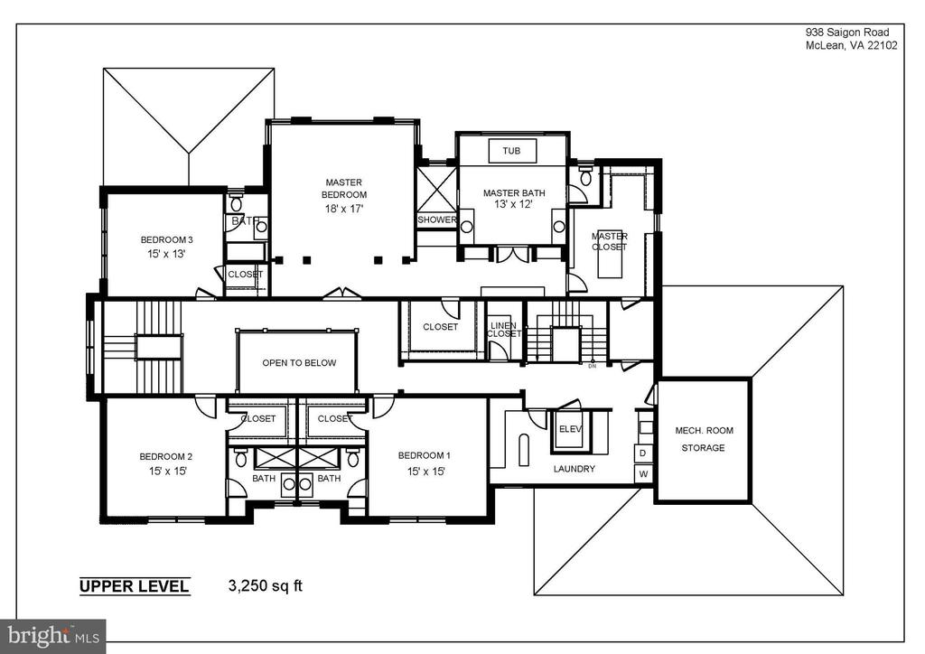 Upper Level- 9' Ceilings with Luxury Master Suite - 938 SAIGON RD, MCLEAN