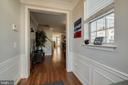 Bright, welcoming entry with wainscotting - 3842 CLORE PL, WOODBRIDGE