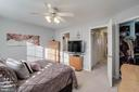 Master with ceiling fan and fresh paint - 3842 CLORE PL, WOODBRIDGE