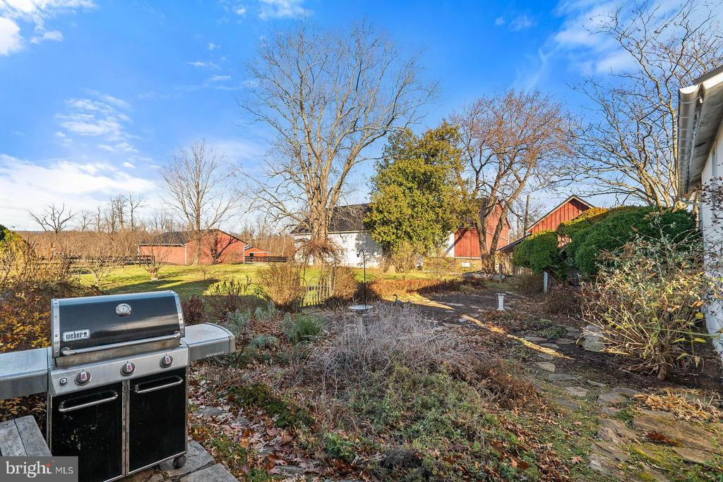 outdoor grilling access from kitchen door - 20775 AIRMONT RD, BLUEMONT