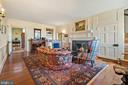 living room in original section of house - 20775 AIRMONT RD, BLUEMONT
