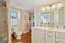 full bath with double vanity, large shower - 20775 AIRMONT RD, BLUEMONT