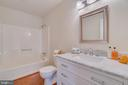 Full bath with new vanity, counters  & lighting - 4229 LAKEVIEW PKWY, LOCUST GROVE