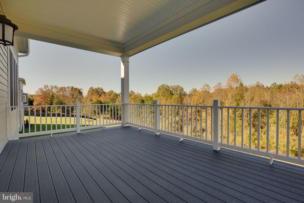 Rear covered deck - 25955 CULLEN RUN PL, ALDIE