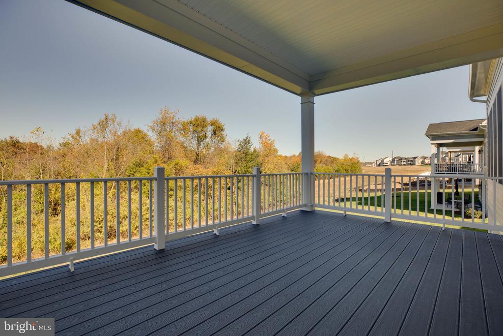 Rear covered deck overlooking tree conservancy - 25955 CULLEN RUN PL, ALDIE