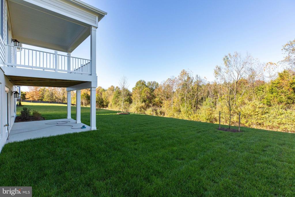 Side view of deck & patio - 25955 CULLEN RUN PL, ALDIE
