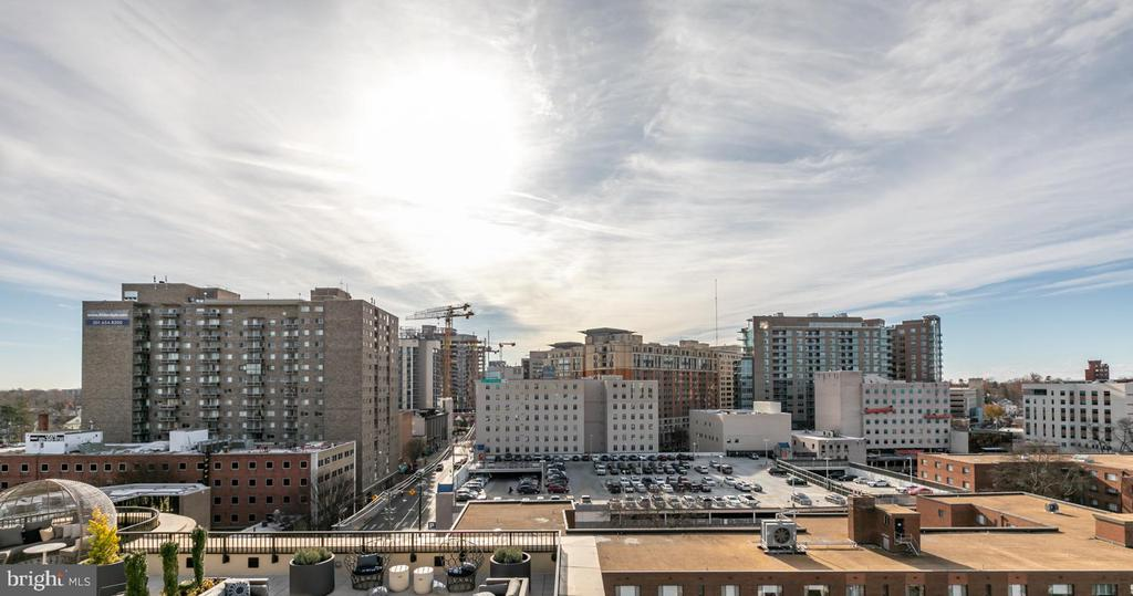 View from community rooftop terrace - 8302 WOODMONT AVE #901, BETHESDA