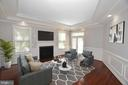 Family Room with VIRTUAL STAGING - 1706 N RANDOLPH ST, ARLINGTON