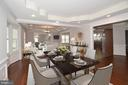 Living dining room with VIRTUAL STAGING - 1706 N RANDOLPH ST, ARLINGTON