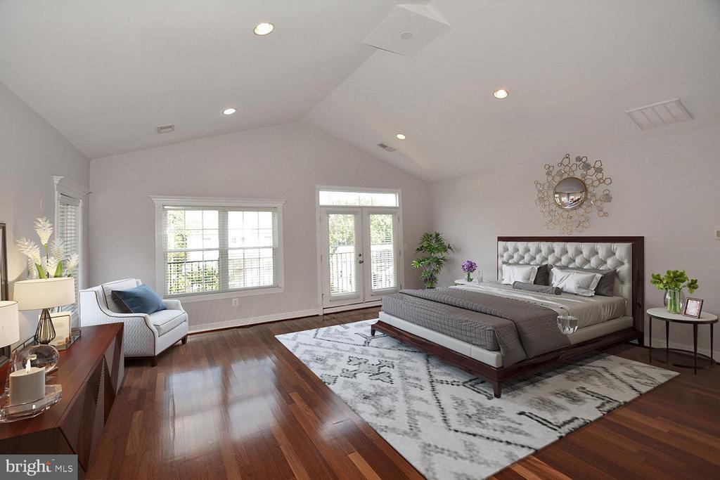 Master Bedroom with VIRTUAL STAGING - 1706 N RANDOLPH ST, ARLINGTON