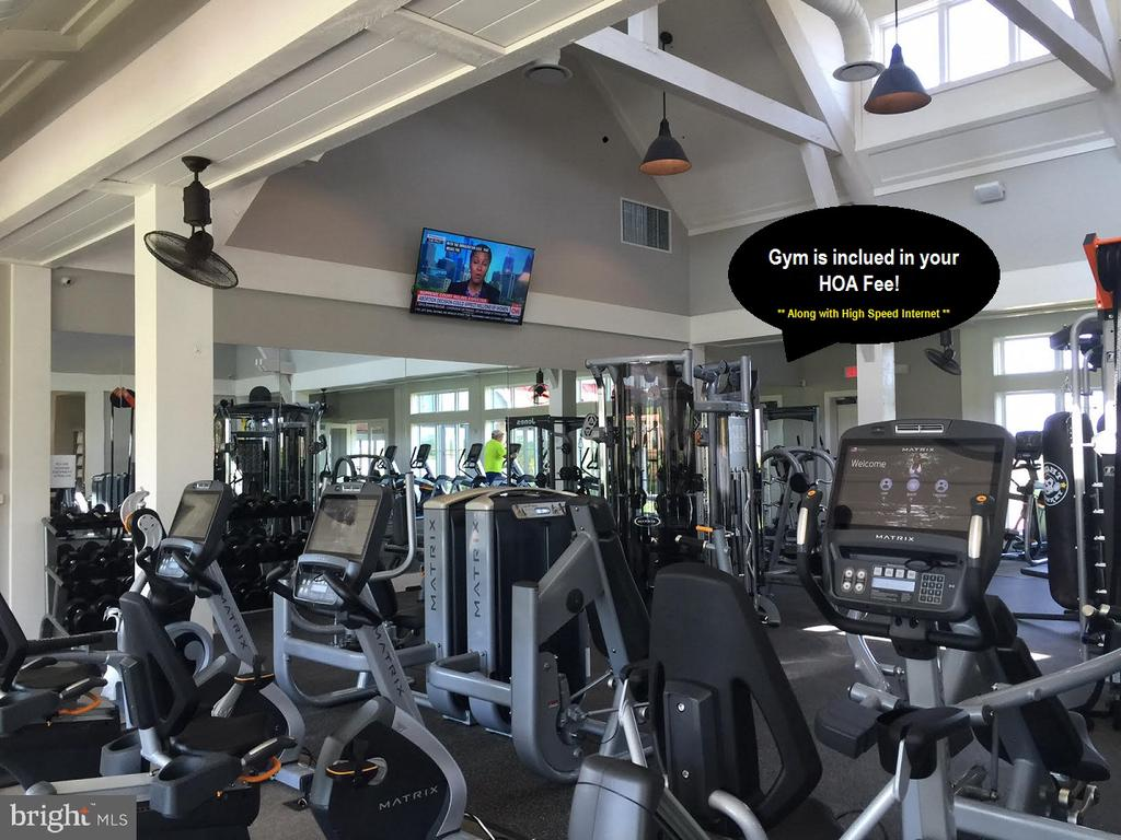 The gym & Internet are included in HOA fee - 17101 GULLWING DR, DUMFRIES