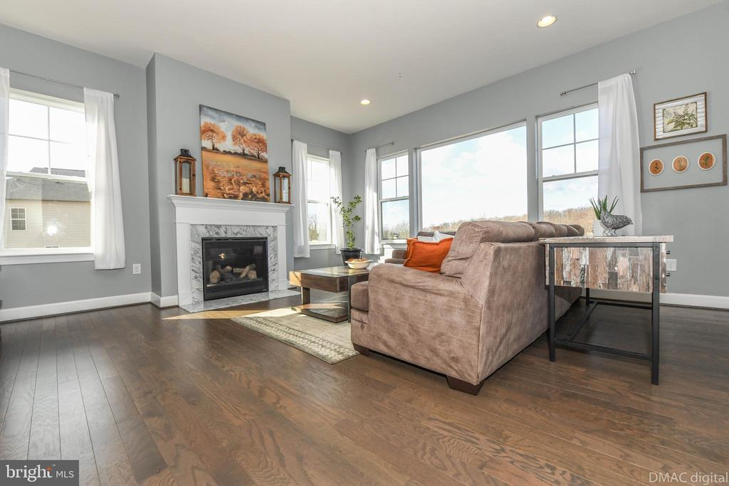 Relax by the fireplace in family room. - 6849 E SHAVANO RD, NEW MARKET