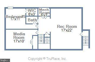 Functional Walk Up Basement with 6th BR & Media RM - 6450 HOLYOKE DR, ANNANDALE