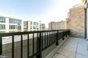 Expansive balcony off of living room - 8302 WOODMONT AVE #901, BETHESDA