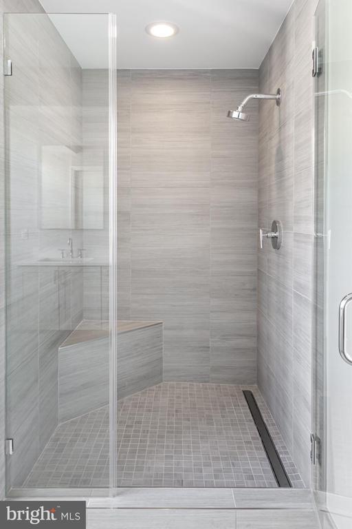 Shower in master bath - 8302 WOODMONT AVE #901, BETHESDA