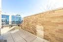 Private terrace off of master bedroom - 8302 WOODMONT AVE #901, BETHESDA