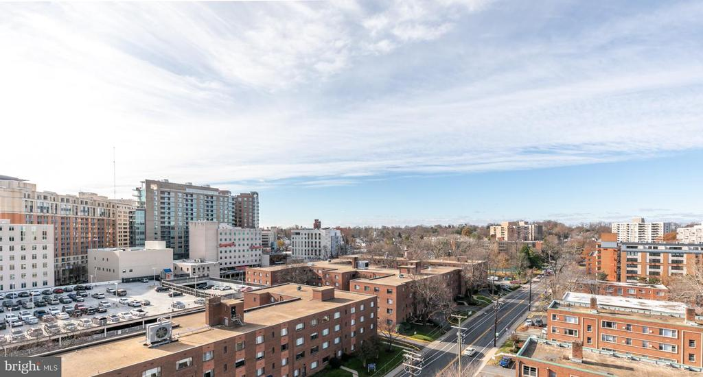 View from community terrace - 8302 WOODMONT #701, BETHESDA
