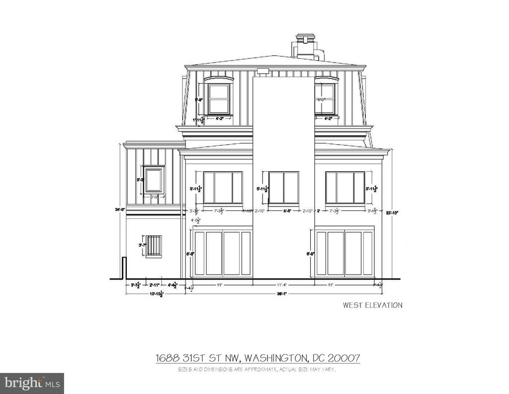 West Elevation - 1688 31ST ST NW, WASHINGTON