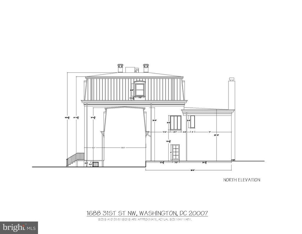 North Elevation - 1688 31ST ST NW, WASHINGTON