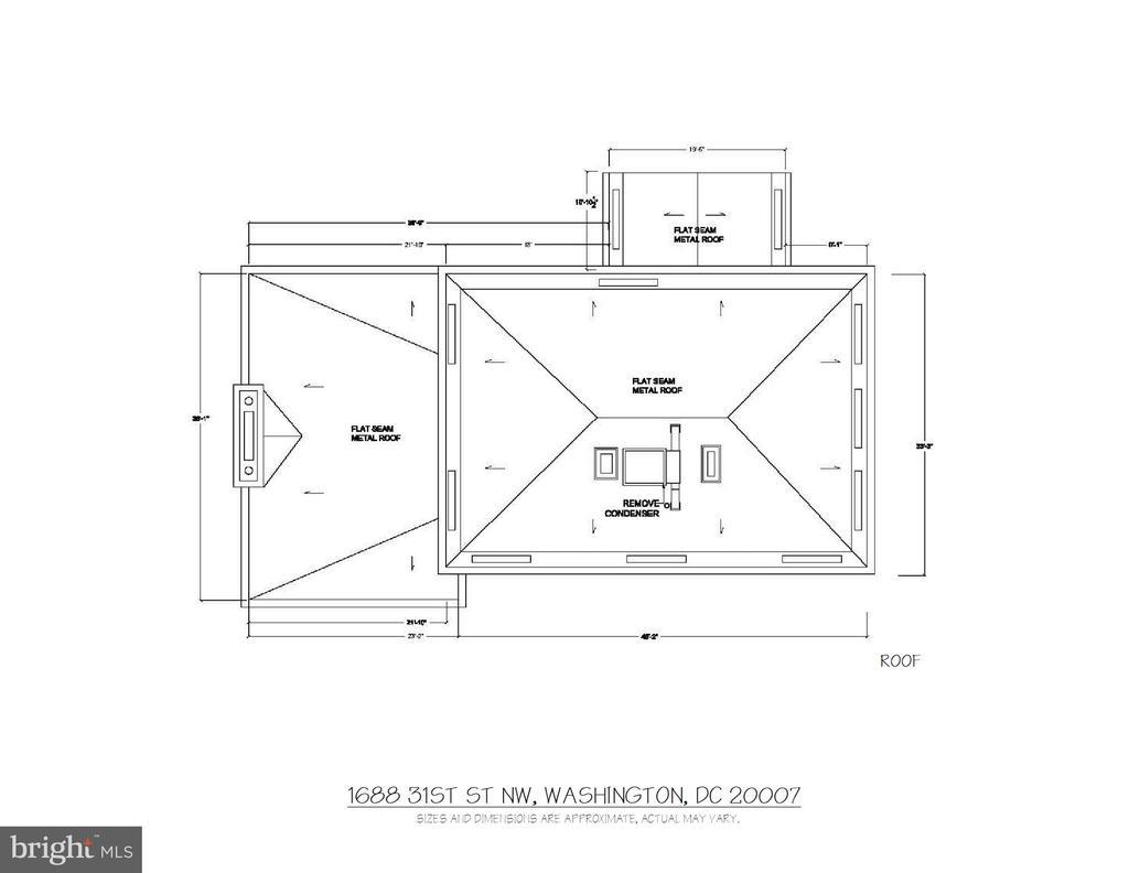 Floor Plan - Roof - 1688 31ST ST NW, WASHINGTON