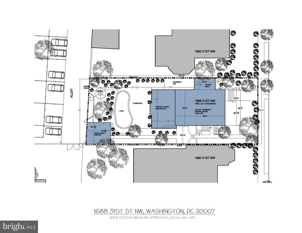 Site Plan - 1688 31ST ST NW, WASHINGTON