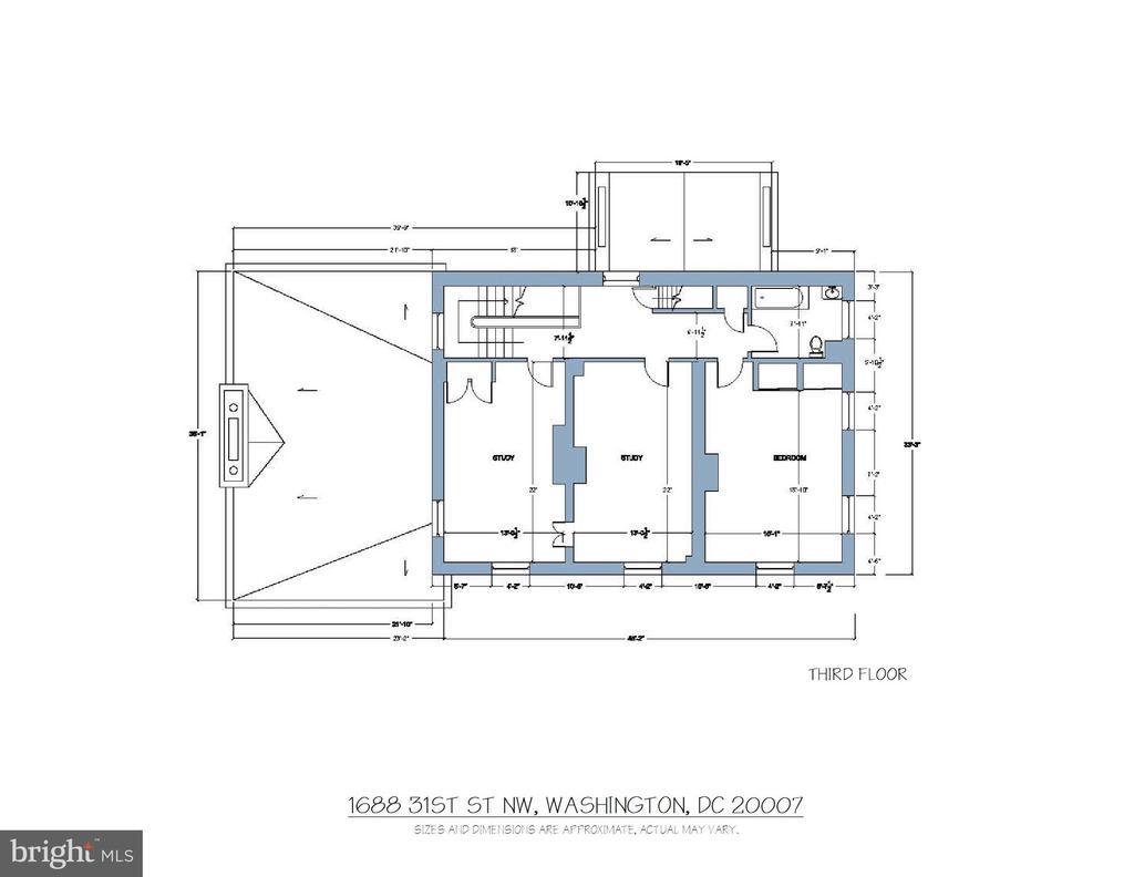 Floor Plan - Third Floor - 1688 31ST ST NW, WASHINGTON