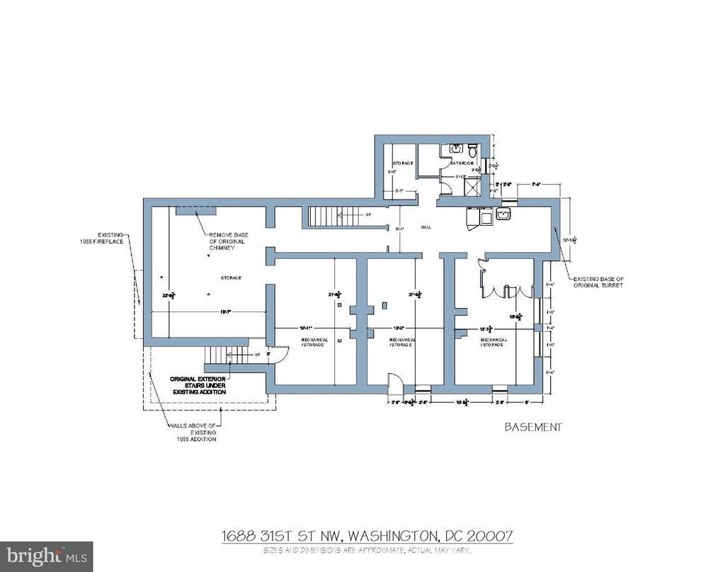 Floor Plan - Basement - 1688 31ST ST NW, WASHINGTON